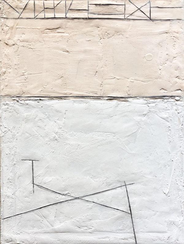 A Kindness, encaustic on canvas, 2018, 16″ ;x 12″, $200 USD
