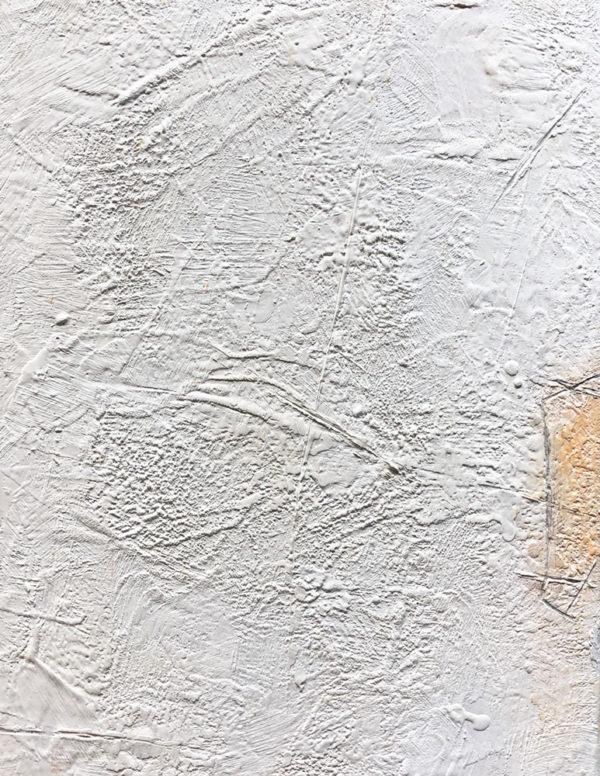 Say Less, encaustic on canvas, 2018, 16″ x 12″, $250 USD